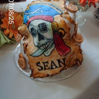 Hand Painted Pirate Hand painted pirate on fondant....that accidently cracked....but in the end really liked the whole effect.Sometimes mistakes can turn into...