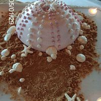 Sea Urchin Wedding Cake Bride wanted something different....different is what she got!!
