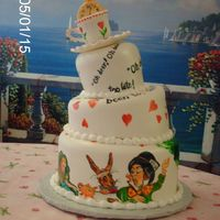 Alice's Mad Hatter Tea Party   Hand painted for a bridal shower tea party.