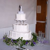 My First Wedding Cake   Heart-shaped wedding cake. I wish I had of gotten a more close up picture of it.