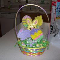 Easter Cookie Bastket My first time making a cookie basket.