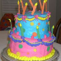Whismy Birthday I tried this for my sisters birthday a couple of years ago. Did not turn out that great, but for my first tilted cake its not bad.