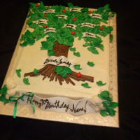 Family Tree Cake This was for a 90th Birthday and Family Reunion!