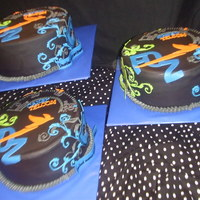 "Custom Cake Made For A Cable/phone Co. This Cake was for the employees of a local Cable/Phone Company. I made 3 identical cakes. The inspiration was the ""mailer flier""..."