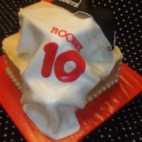 Manchester United Birthday Cake Jersey & Scarf are Fondant!