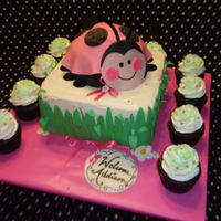 Ladybug Baby Shower Cake This was based on a super cute cake I found on here made by SweetPea0613. The tableware was ladybug, ladybug oh so sweet for a 1st bday but...