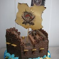 Pirate Ship Local County Fair Entry. I used a styrofoam base and covered it in royal icing.