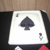 Ace Of Spades Cake This is the Ace of Spades Cake I made for our wedding reception in my husband's hometown. We flew out to Vegas so I made this cake and...