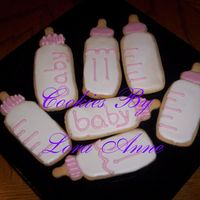 Baby Girl Bottle Cookies   I made these cookies for a friend that's expecting a girl. Cookies inspired by CindyM and Mommy23 w/ Antonia RI