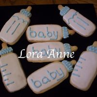 Baby Boy Bottles Cookies Inspired by CindyM and Mommy23 w/ Antonia RI Made for two of my pregnant friends who are expecting boys.