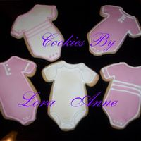 Baby Girl Onesies Cookies   I made these for a friend that is expecting a girl.Cookies inspired by CindyM and Mommy23 w/ Antonia RI