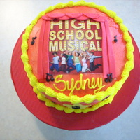 High School Musical thanks to all of you wonderful cc artist for the inspirationbuttercream icing, fondant stars and curtains, photo is not edible i placed wax...