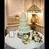 Sage Green Wedding Cake THIS CAKE WENT TO MY FAVORITE WEDDING VENUE IN NEW ORLEANS - THE ELMS MANSION ON ST. CHARLES AVE. THIS PICTURE WAS TAKEN BY MICHAEL CASWELL...