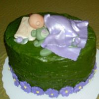 Practice Baby Shower Cake I got inspired by all the recent cakes that have sculpting on it...I did a practice cake for a friend just came home with a newborn...used...