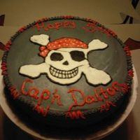 Pirates Skull skull cake for pirate b/d. Butter cake with butter cream icing and marshmellow filling