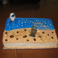 Wall E buttercream icing, french vanilla cake. This was for my son's 7th birthday. Idea came from CC thanks all