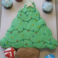 Cupcake Tree this was my first cupcake cake and I think I'm addicted. Enjoy.