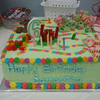 Candyland I made this for my daughters 6th birthday...It took alot of sweet-talkin' (no pun intended) to not make another princess themed cake....
