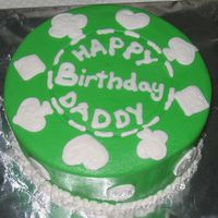 Poker Chip I whipped this cake up this morning for hubby's birthday. Just buttercream on a 6 inch cake.
