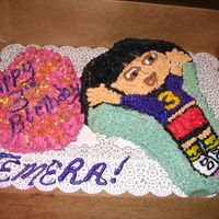 Dora The Explorer This is one of my for-profit cakes. I rarely make cakes from molds but I was in a rush to make this.