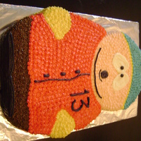 Cartman From Southpark This was for a 13 year old boy's birthday... the character is Cartman from the risque cartoon Southpark... carved from 16in and 10in...