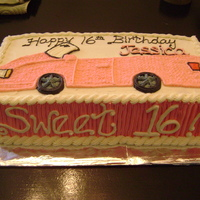 Sweet 16 Pink Convertible This did have a side-view pic of the birthday girl put on at the party... this was a 'before' pic... and it kinda looks like a...