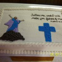 Pastor Ordination Cake I was asked to create a cake for the ordination of our associate pastor. I could not find too many sheet cakes with any designs on them...