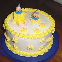 Clown Cake   This is my clown cake from Wilton Course I.