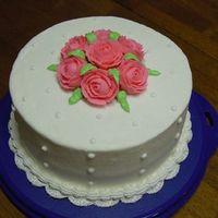 Rose And Confetti Cake   This is my rose and confetti cake from the Wilton Course I.