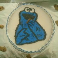 Cookie Monster The Cookie monster was made apart y took a picture and make a copie with the icing (buttercream transfer) I put in the freezer and when got...