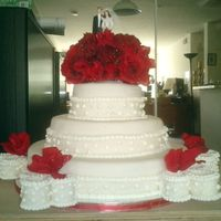 Red Love This one was my very first wedding cake I charge very cheap because I didnt have any idea how much charge for something like this and when...
