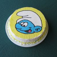 Smurf Cake Chocolate cake with FBCT