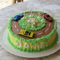 Racetrack Cake   This was a cake I made for my nephew who turned 4 this year.