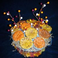Fall Cupcake Basket Cupcakes decorated in buttercream icing to form a gift basket.