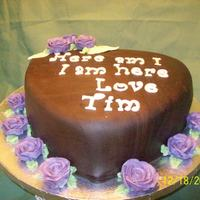 Chocolate With Purple Roses thanks for the cakecentral bakers for you ideas and inspiration