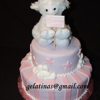 "Baby Sheep   I think this a really cute little sheep. Hope you like it. It;s a 12"",8"" marshmallow fondant"