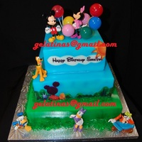 Disney's Clubhouse Cake I made this 3 tiered cake/gelatina for my nephew's bday.