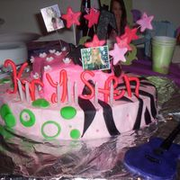 The Best Of Both Worlds Hannah Montana This cake was done for my daughters 7th birthday. Its all about Hannah Montana, The Best Of Both Worlds. It is buttercream icing with...