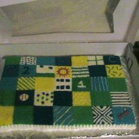 Quilt Cake A last minute cake I did for a friend. When I mean last minute I bake and covered this cake in three hours.