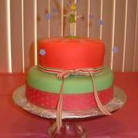 Tinkerbell Cake This was done for my daughter's 4th birthday party (the first of two). Top cake was chocolate and bottom was a white. Both had BC...