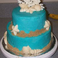 Under The Sea i did this for a friend's 30th, she loves the beach and shells, it's buttercream , brown sugar, and white chocolate