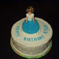 Doll Cake   My sister's granddaughter turned 4 and this cake was done at her request.