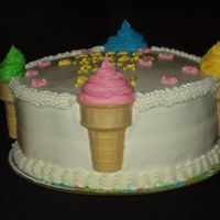 Ice Cream Cones My nephew's birthday. This was a fun cake!