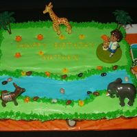 Go Diego Go Cupcake Cake for 3 year old...thanks to all CC members who have previously created this theme and provided me with ideas!