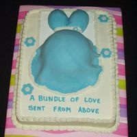 "Baby Shower Loved the ""Belly"" cakes so much...hope no one objects. Made this one for my nephew's wife."