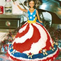 Ms. Independence I made this for a friends daughter who's birthday falls on the fourth of July. She loves barbie and wanted something patriotic. Her...