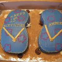 Flip Flops For 13Th Birthday These flip flops were made for a 13th birthday. They were a BIG hit at the party, everyone loved the cakes. When I went to pick up my...