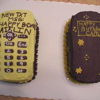 "Cell Phones Cell phones for a young pre-teen who is eager to get one now that she is ""old"" enough. She thought the cakes were cool. I used a..."