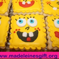 Spongebob For Madeleine Spongebob cookies for my neighbor, an 8 year old girl suffering from brain cancer.