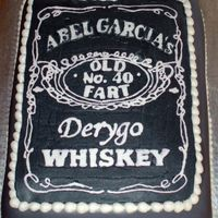 """old Fart"" Whiskey Label Cake"